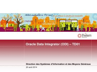 Oracle Data Integrator (ODI) – TD01