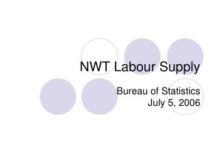 NWT Labour Supply