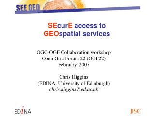 SE cur E  access to  GEO spatial services