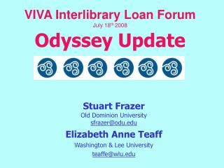 VIVA Interlibrary Loan Forum July 18 th  2008 Odyssey Update