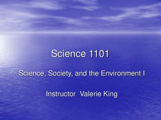 Science 1101