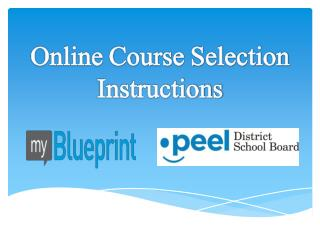 Online Course Selection Instructions