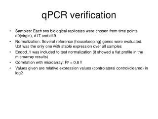 qPCR verification