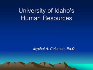 University of Idaho's  Human Resources