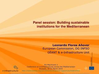 Leonardo Flores Añover European Commission, DG INFSO  GÉANT & e-Infrastructure Unit