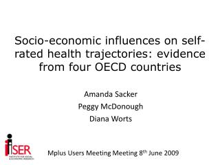 Socio-economic influences on self-rated health trajectories: evidence from four OECD countries