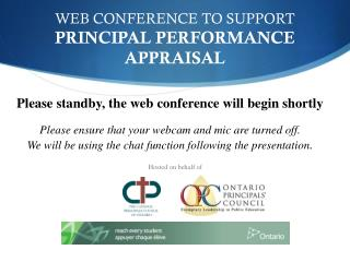 WEB CONFERENCE TO SUPPORT  PRINCIPAL PERFORMANCE APPRAISAL
