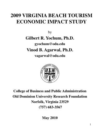 2009 VIRGINIA BEACH TOURISM ECONOMIC IMPACT STUDY