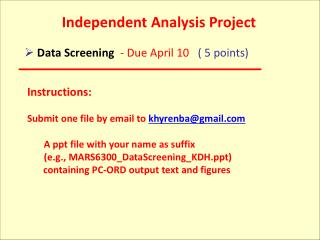 Independent Analysis Project