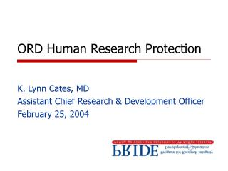 ORD Human Research Protection