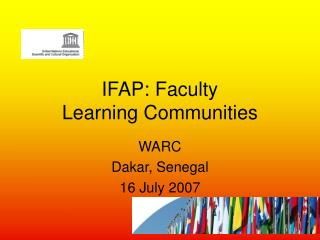IFAP: Faculty  Learning Communities