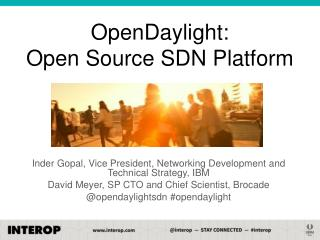 OpenDaylight:  Open Source SDN Platform