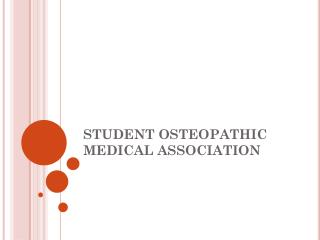 STUDENT OSTEOPATHIC MEDICAL ASSOCIATION