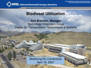 Biodiesel Utilization