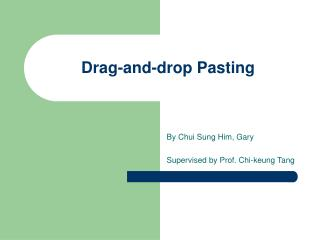 Drag-and-drop Pasting
