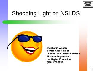 Shedding Light on NSLDS