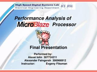 Performance Analysis of    	  		         Processor