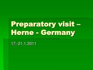 Preparatory visit – Herne - Germany