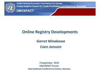 Online Registry Developments