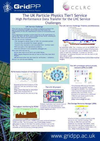 The UK Particle Physics Tier1 Service