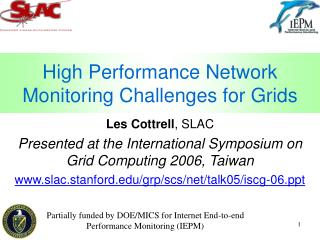 High Performance Network Monitoring Challenges for Grids