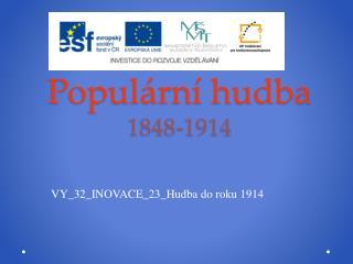 Populární hudba 1848-1914
