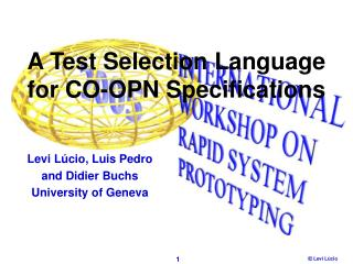 A Test Selection Language for CO-OPN Specifications