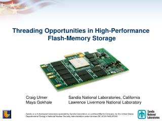 Threading Opportunities in High-Performance  Flash-Memory Storage