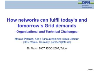 How networks can fulfil today's and tomorrow's Grid demands