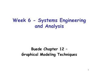 Week 6 - Systems Engineering and Analysis