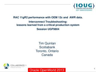 Tim Quinlan Scotiabank Toronto, Ontario Canada