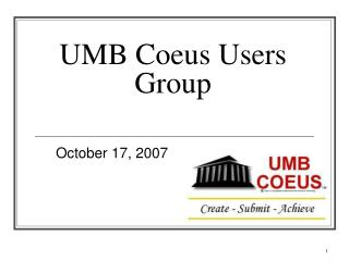 UMB Coeus Users Group