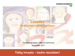 Leselos Ordforråd/metakognisjon