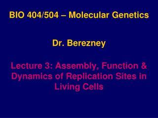 BIO 404/504 � Molecular Genetics