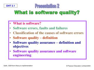 What is software? Software errors, faults and failures