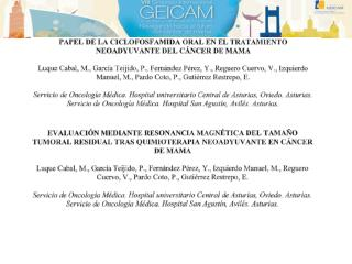 QUIMIOTERAPIA NEOADYUVANTE EN PACIENTES CON CANCER DE  MAMA HER-2+ N. FERNANDEZ NUÑEZ ET AL. CHUAC