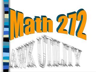 Math 272