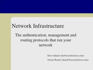 Network Infrastructure Insecurity
