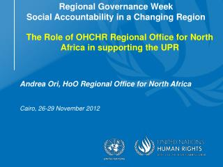 Regional Governance Week  Social Accountability in a Changing Region