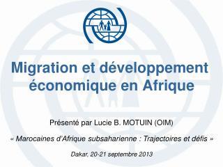 Migration et développement  économique en Afrique