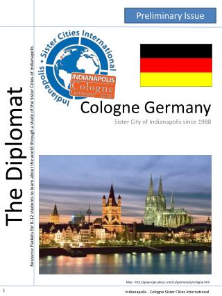 Cologne Germany Sister City of Indianapolis since 1988