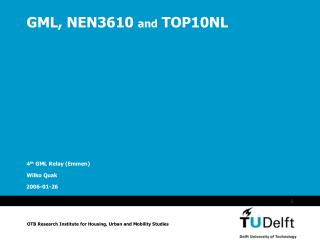 GML, NEN3610  and  TOP10NL
