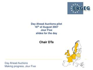 Day Ahead Auctions pilot  16 th  of August 2007 Jour Fixe slides for the day