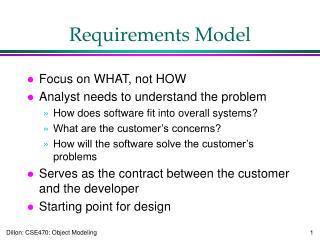 Requirements Model