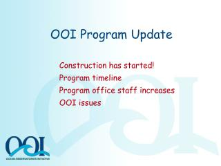 OOI Program Update