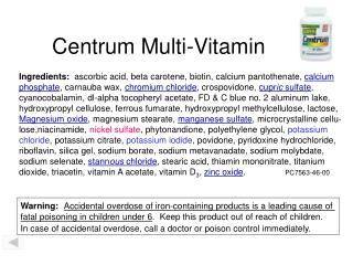 Centrum Multi-Vitamin