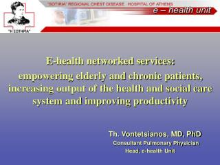 E-health networked services: