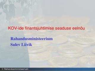 KOV-ide finantsjuhtimise seaduse eelnõu