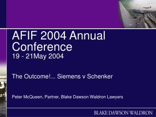 AFIF 2004 Annual Conference  19 - 21May 2004