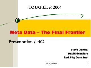 Presentation # 402